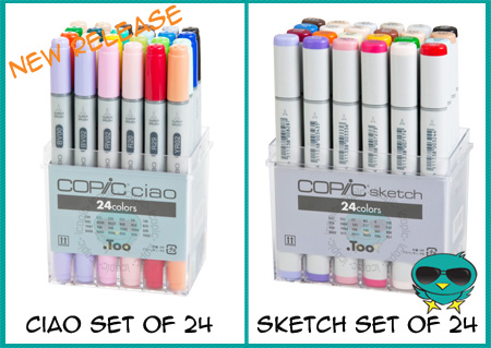 New Copic 24 Sets Available for Sketch and Ciao Markers